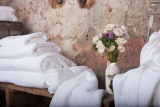 Hochwertige Textilien für Bad und Sauna