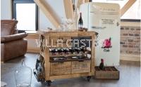 IN VINO VERITAS – Wein- Servierwagen Rustico