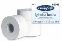 Toilettenpapier Mini Jumbo BulkySoft, 100% Zellstoff, 1-lagig weiss