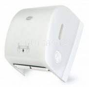 BulkySoft Handtuchrollen Autocut-Dispenser, weiss / transparent