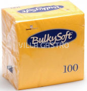BulkySoft Table Top Servietten 100% Zellstoff, 2-lagig, 1/4-Falz, gelb