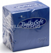BulkySoft Table Top Servietten 100% Zellstoff, 2-lagig, 1/4-Falz, blau