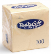 BulkySoft Table Top Servietten 100% Zellstoff, 2-lagig, 1/4-Falz, champagner