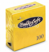 BulkySoft Table Top Servietten 100% Zellstoff, 2-lagig, 1/4-Falz, limone