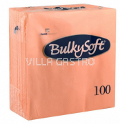 BulkySoft Table Top Servietten 100% Zellstoff, 2-lagig, 1/4-Falz, lachs
