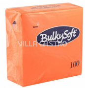 BulkySoft Table Top Servietten 100% Zellstoff, 2-lagig, 1/4-Falz, orange