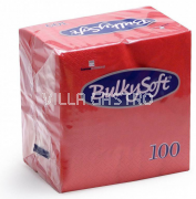 BulkySoft Table Top Servietten 100% Zellstoff, 2-lagig, 1/4-Falz, rot