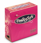 BulkySoft Table Top Servietten 100% Zellstoff, 2-lagig, 1/4-Falz, fuchsia