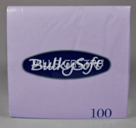 BulkySoft Table Top Servietten 100% Zellstoff, 2-lagig, 1/4-Falz, lila