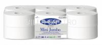Toilettenpapier Mini Jumbo BulkySoft 100% Zellstoff, 2-lagig weiss