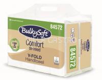 Papierhandtücher BulkySoft Comfort, V-Falz Recycling de-inked 2-lagig, weiss