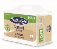 Papierhandtücher BulkySoft Comfort, V-Falz Recycling de-inked, 2-lagig, weiss