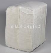 Servietten Villa Quick, 100% Zellstoff 1-lagig, 1/8-Falz, weiss