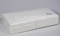 Servietten Villa Quick, 100% Zellstoff, 1-lagig, 1/4-Falz, weiss