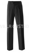 Herrenkochhose schwarz, Grösse 62-110, 35% Baumwolle, 65% Polyester, 2er Pack