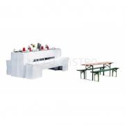 Biertischgarniturhussen Set 220 x 50 cm 1 x Tisch 2 x Bank