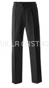 Herrenkochhose schwarz, Grösse 38-60, 35% Baumwolle, 65% Polyester, 2er Pack