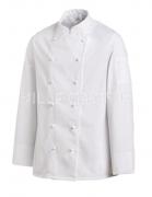 Kochjacken, 1/1 Arm, Weiss, 65% Polyester und 35% Baumwolle, 2er Pack