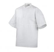 Kochhemd 1/2 Arm mit Druckknöpfen, 100% Baumwolle, 2er Pack