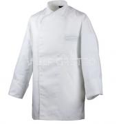 Kochjacken Langarm mit Druckknöpfen, 100% Baumwolle, 2er Pack