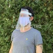 Gesichtschutz aus glasklarem Material, 5er SET