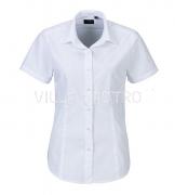 Bluse mit kurzem Arm, 100% Baumwolle, bügelleicht